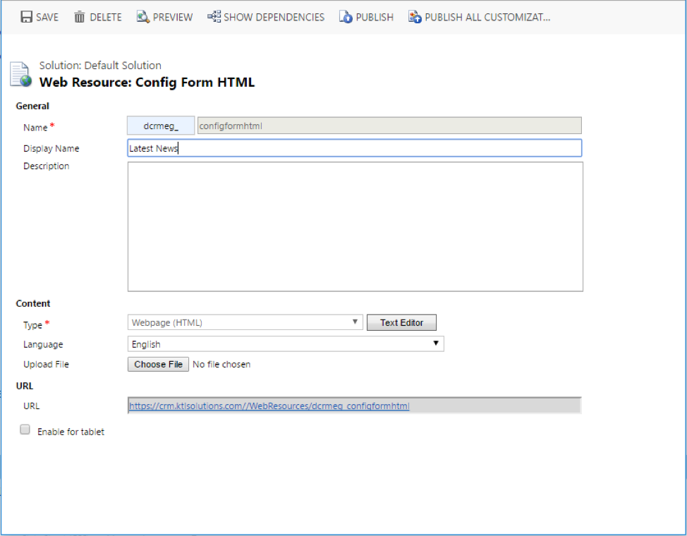 CRM Customization using Web API with OData 4 0, Angular JS