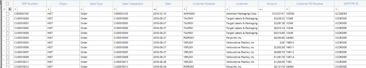 Dynamics GP Records