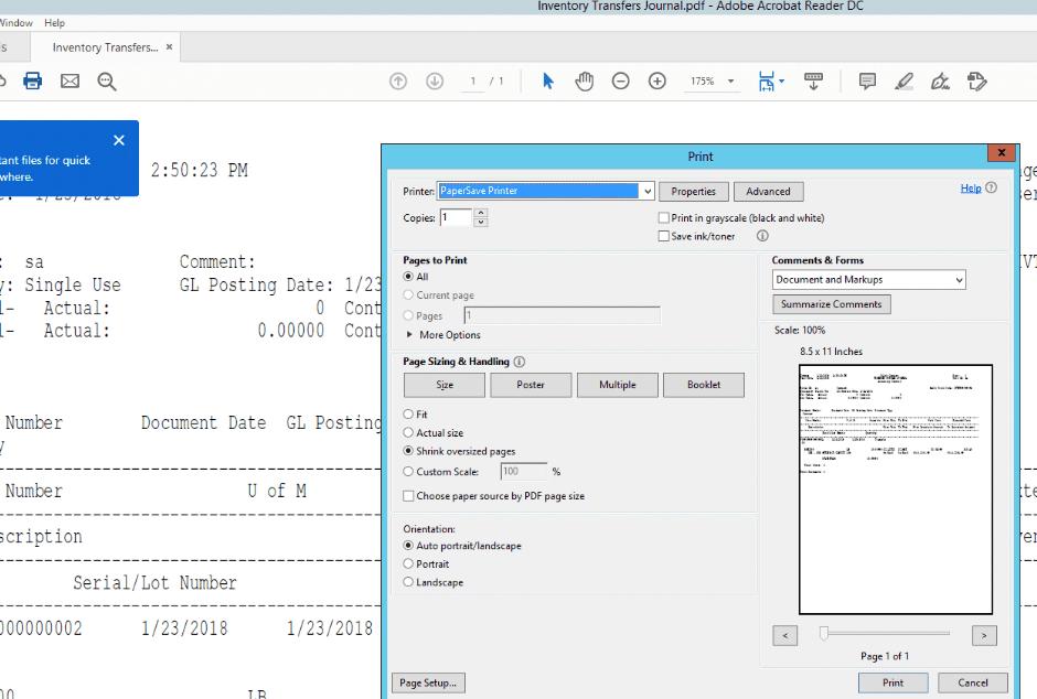 PaperSave Printer 2