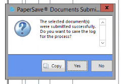 paper save submission message